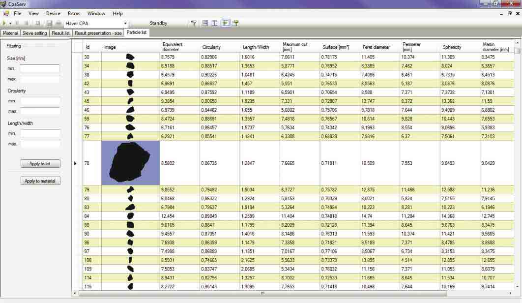 Computerized Particle Analyzer Serv Software