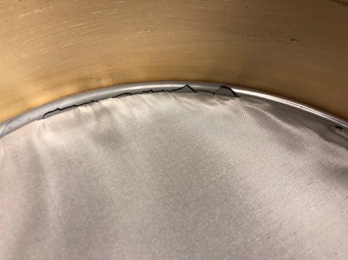 W.S. Tyler Test sieve damaged